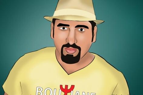 """كاريكاتور ريف دييا : الفنان الكوميدي كمال المخلوفي """"بوزيان"""""""