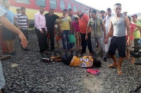 قطار لخليع يقتل أم ويرسل طفلها للانعاش وهادي سابع ضحية بترقاع الناظور