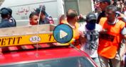 فيديو: غضب المواطنين اثناء ظهور أحد الجُناة لإعادة تمثيل جريمة قتل سائق الطاكسي