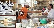 """""""الإدريسي محمد"""" فنان عصامي كرس أزيد من 4 عقود من عمره في سبيل ترميم المنحوتات ضواحي فرانكفورت"""