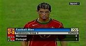 هدف كريستيانو ضد منتخب المغرب في أولمبياد 2004